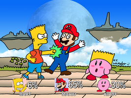 Bart in Smash Bros by DJgames