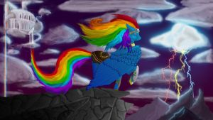 Rainbow Dash - Protector of the heavens by Epicfeind