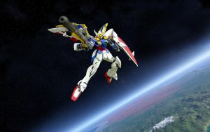 Wing Gundam In space by ShinlongGundam