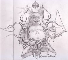 buddha sketch by itch1