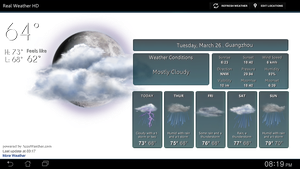 Real Weather HD FULL SCREEN V2 Transp for xwidget by jimking