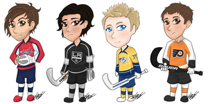 Chibi Goalie Set 1 by flamingmarshmallows