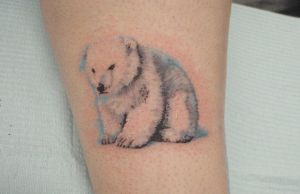 Baby polar bear by adammdesigns