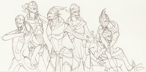 All The Turian Ladies by yellowdrakex