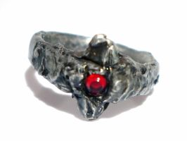 Bague Etain, Strass Sang/Tin Ring, Bloody Strass by glo0bule