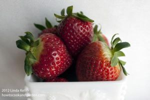 Strawberries In Milk Glass by subversiveplot