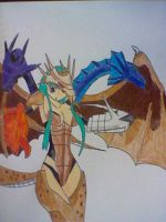 5-headed dragon by tracer96