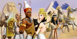 Egyptian characters by dashinvaine