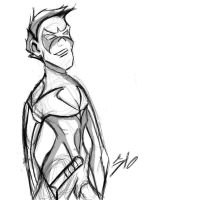 Nightwing rough by SINGLETON930