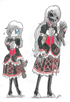 TRADITIONAL REF: Ally's Forms Height Comparison by InvaderIka