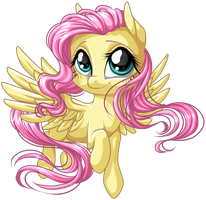 Fluttershy Hover by KittehKatBar