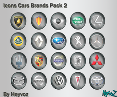 Icons Cars Brands Pack2 by Heyvoz