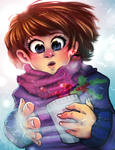 Celebrating Snow (speedpaint in description) by Gabbybites