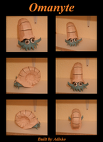 Omanyte Paper Pokemon by Adisko