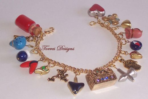 1st Ocarina of Time Charm Bracelet in GT Zelda by TorresDesigns