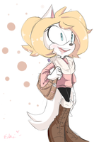 Miley in fall clothing by Eokoi