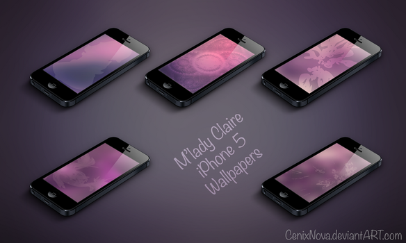 M'lady Claire iPhone 5 Wallpapers by DerNosada