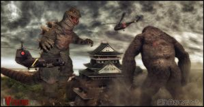 Godzilla: Birthday Ed.2(KingKong vs Godzilla) by innocentoVia