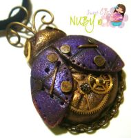 Purple Mechanical Ladybug by colourful-blossom