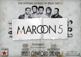 Maroon 5 Poster: Paper by EmpireKing