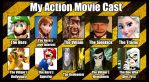 My Action Movie Cast by Metylover2143