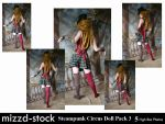 Steampunk Circus Doll Pack 3 by mizzd-stock