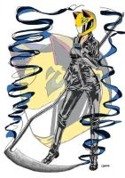 celty and her sythe by artwrkx