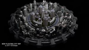 New Floating City WIP 2 by TLBKlaus