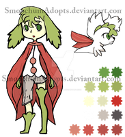 Shaymin Gijinka Adoptable -CLOSED- by SmoochumAdopts
