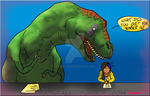 Cheating T Rex by Lyra-Lie