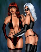 Mary Jane And Black Cat By ReneGarJ by winchester01