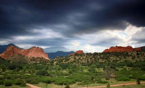 Storm Rolling In Over Garden Of The Gods by LorreesWorld
