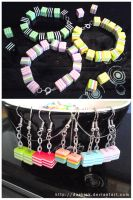 Candy Pearls jewelery for sale by ZombiDJ