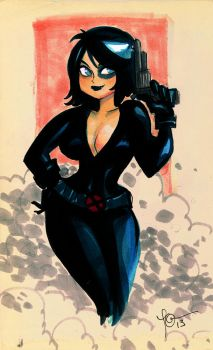 Domino from Boston Comiccon by TracyLeeQuinn