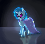 Vinyl Scratch in Trixie's Cape - Request by DarkFlame75
