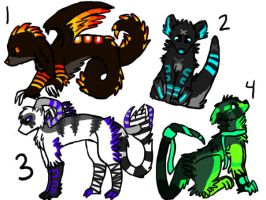 Creature Adoptables 2 by Ima-Falcon