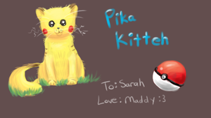 Gift: Pika Kitteh by FeatheredSoap