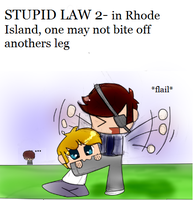 Stupid Laws: Part 2- Biting Off legs? by ask-NewYorkHetalia