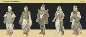 Kairrou male costumes by Stefana-Tserk