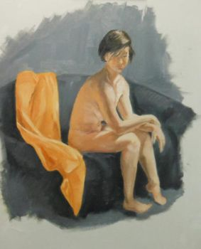 Oil Figure Study 2 by BloodyRose07