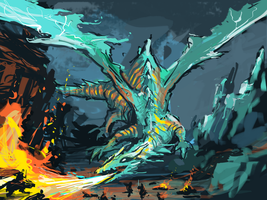 Speedpainting dragon by jjnaas