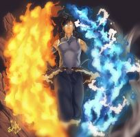 korra avatar mode by RampanToxicity