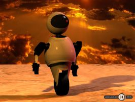 Robot marciano 3D by gianvoglio
