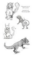 Vesper Creature Contest Sketches 4 by MoonsongWolf