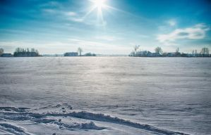 Snowy Homesteads HDR by sztewe