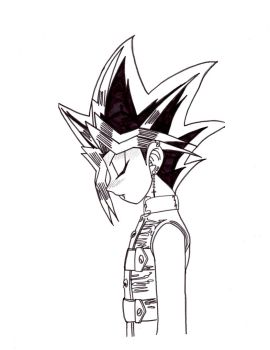 Vamp Yugi Bowing outline by xMystery21x