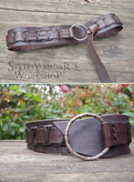 Viking Leather Belt (inspired Ragnar Lothbrok) by Svetliy-Sudar