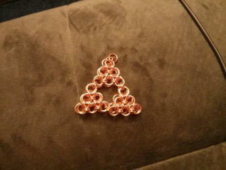 Bronze Zelda Triforce symbol by rushtalion