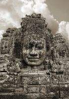 Angkor Thom Faces by stinebamse