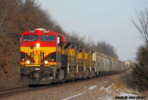 Factory Fresh KCS # 4797 leads train # MPRPB 01 by EternalFlame1891